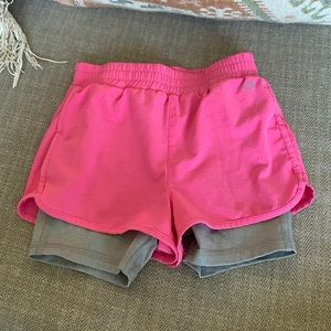 Gap fit 3y running shorts with biker shorts